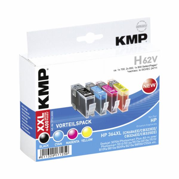KMP H62V vyhodne baleni BK/C/M/Y kompatibilni s HP No. 364 XL