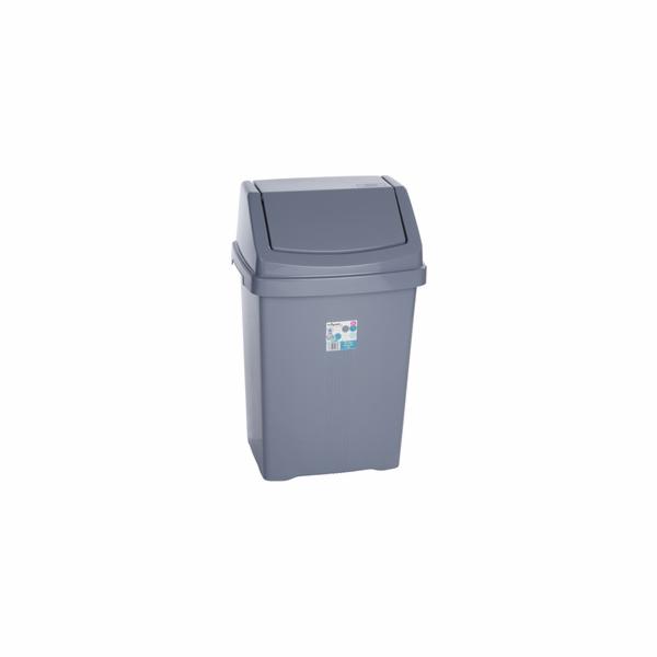 Koš odpadkový Wham 11755 50L stříbrný