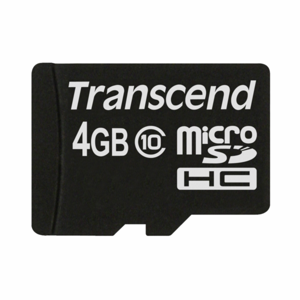 Transcend MicroSD karta SDHC 4GB Class 10