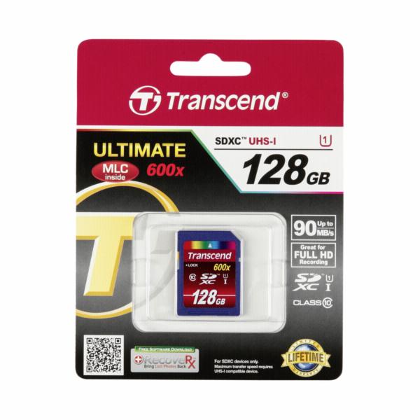Transcend SDXC 128GB Class 10 / UHS-I / 600x
