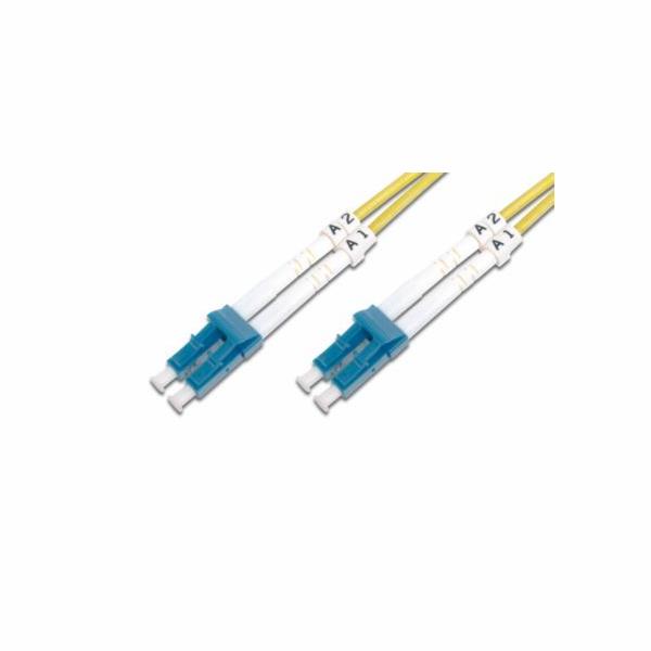 DIGITUS Fiber Optic Patch Cord,, LC (APC) to LC (UPC), Singlemode, OS1, 09/125 µ, Duplex, Length 3m