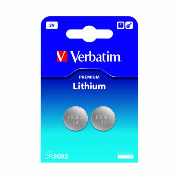1x2 Verbatim CR 2032 Lithium