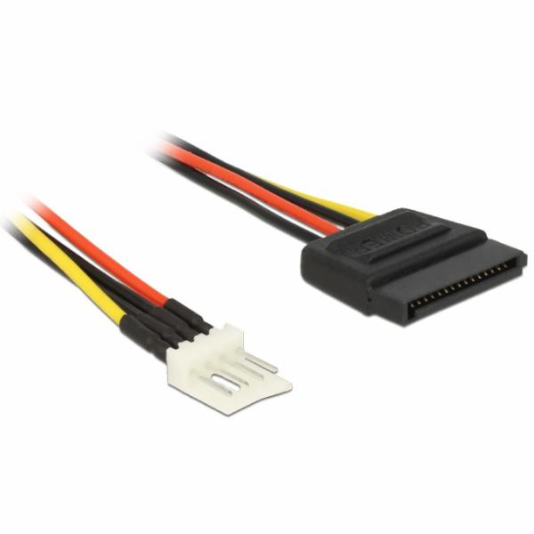Delock napájecí kabel SATA 15 pin samec > 4 pin floppy samec 24 cm