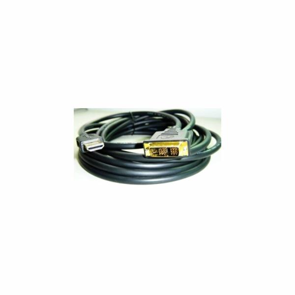 Kabel HDMI-DVI 4,5m,M/M stín.,zlacené kontakty 1.3
