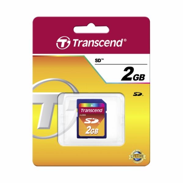 Paměťová karta TRANSCEND 2GB Secure Digital memory card
