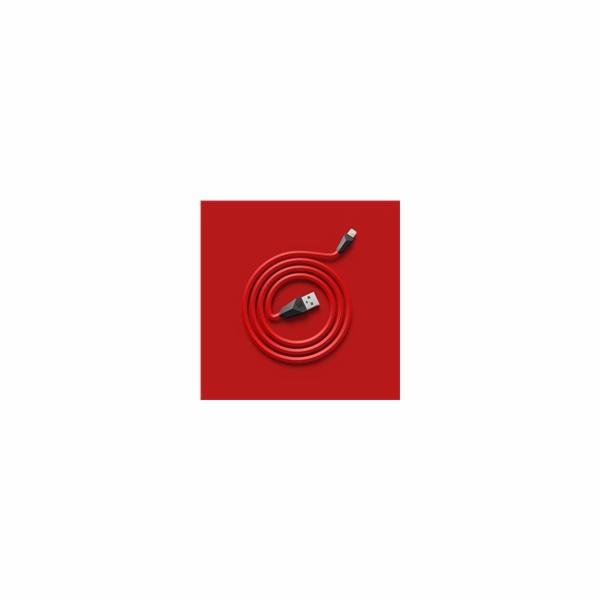 Datový kabel ALIEN, micro USB, barva červeno-černá
