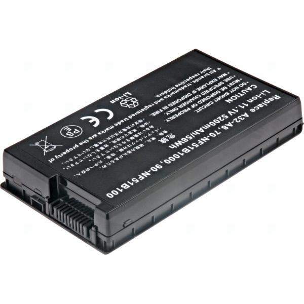 Baterie T6 power Asus A8, A8000, F50, F8, F80, N60, N80, N81, X61, X81, Z99, 6cell, 5200mAh