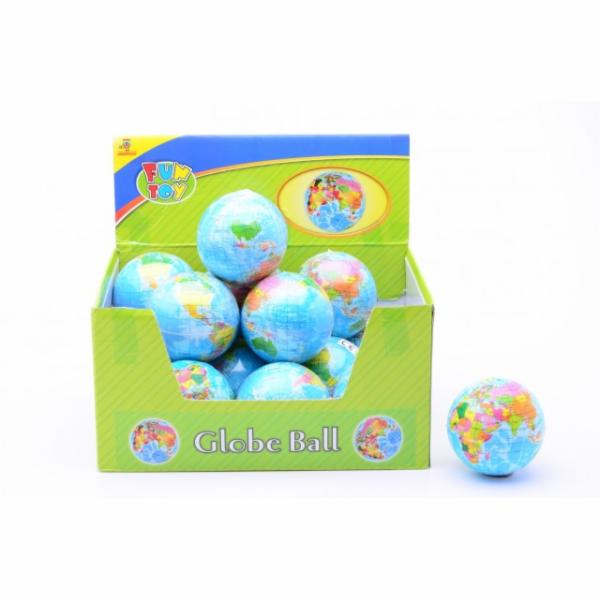 Měkký míček - zeměkoule 75 mm