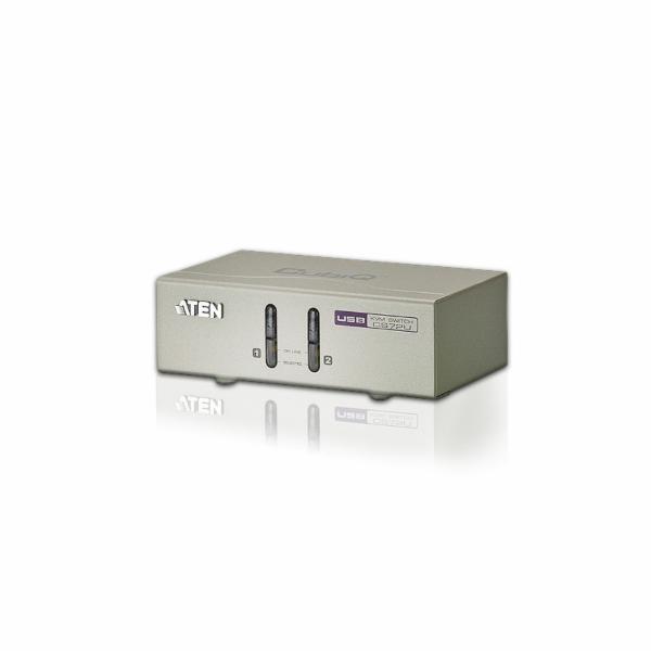 ATEN KVM switch CS-72U USB 2PC audio, with custom cables 1,2m