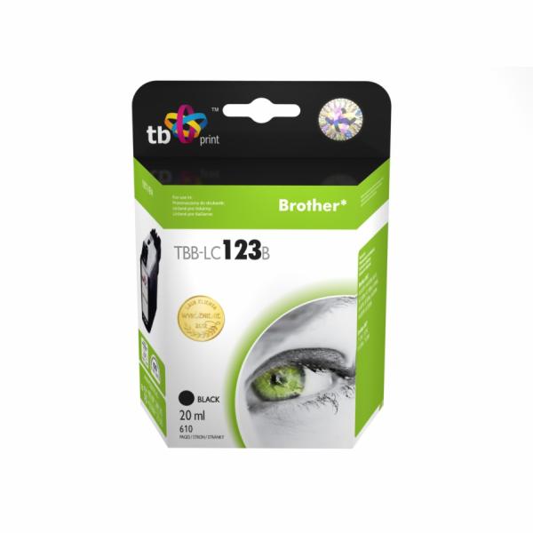 Ink.kazeta kompatibilni s Brother LC123BK 100% new