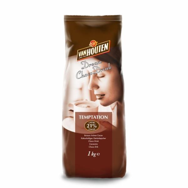 Horká čokoláda Van Houten Temptation 1 kg (21% kakao)