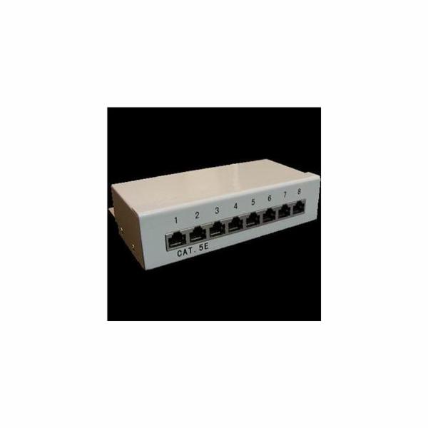 Patch panel Box 8-port Cat5e STP na zed´