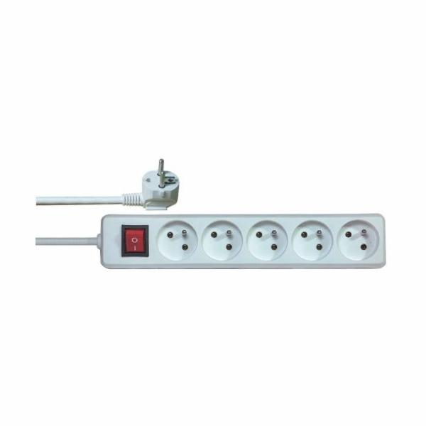 Emos prodlužovací šňůra P1510 - 5 zásuvek, 10m, s vypínačem
