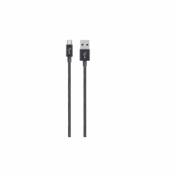 MIXIT UP Metallic MicroUSB - USB, Černý