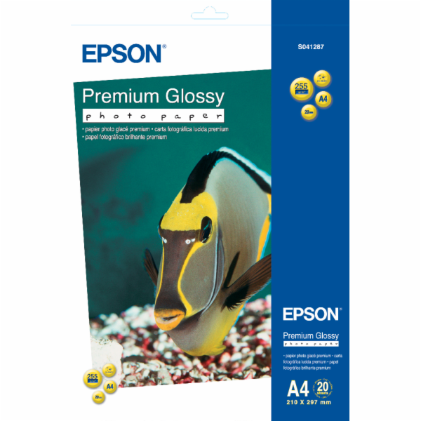 EPSON A4, Premium Glossy Photo Paper (20 listů)