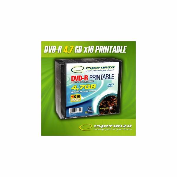 Esperanza DVD-R [ slim jewel case 10 | 4,7GB | 16x | pro potisk ]