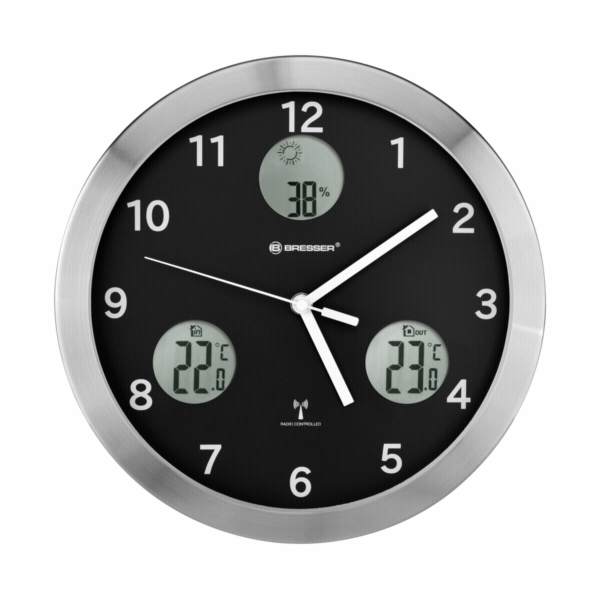 Bresser MyTime io Wall Clock 30cm - black