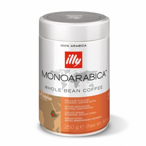 Káva illy Monoarabica Etiopia 250g zrnková