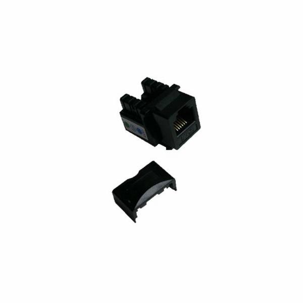 DATACOM Keystone UTP RJ12 Cat3 (DUAL) černý