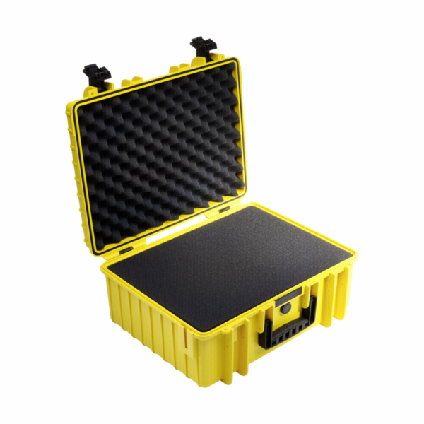 Kufr B&W 6000 žlutý vč. pěnové vložky