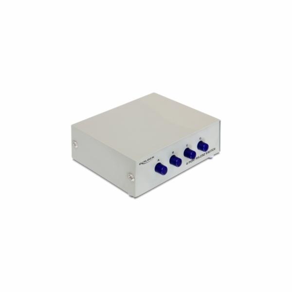 Delock přepínač ethernetového rozhranní 10/100 4-porty, manuální