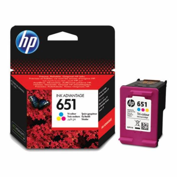 HP 651 3barevná ink kazeta, C2P11AE