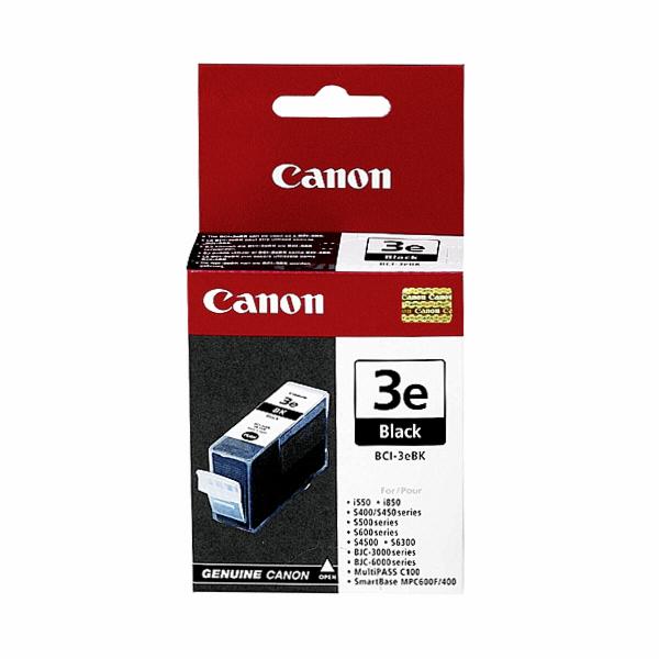 3 Canon BCI-3 e BK schwarz Tintenpatronen