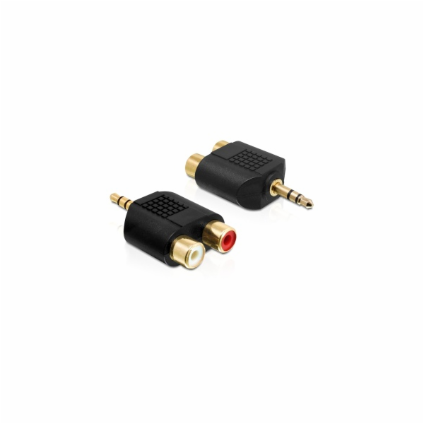 Delock audio adaptér stereo jack 3.5 mm 3 pin samec > 2 x RCA (CINCH) samice