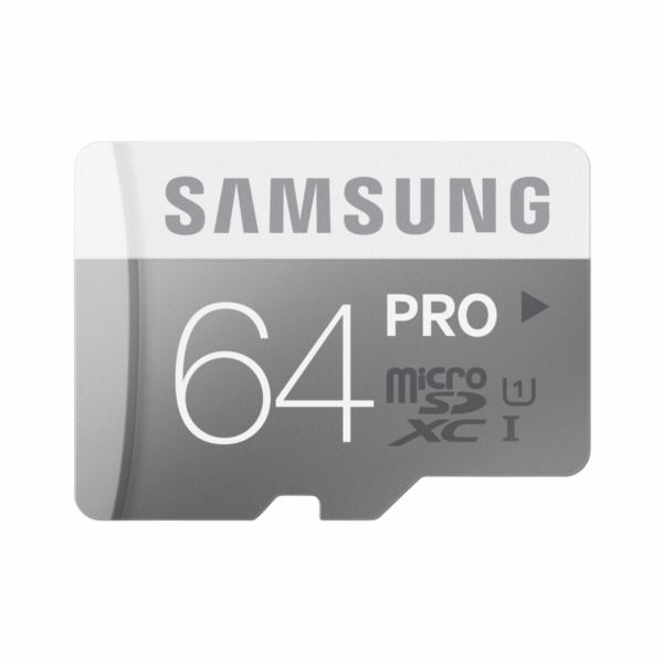 Paměťová karta Samsung microSDXC Class 10 64GB PRO s adaptérem