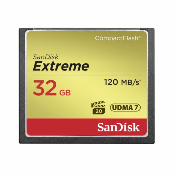 Paměťová karta SanDisk extreme CF 32GB 120MB/s UDMA7