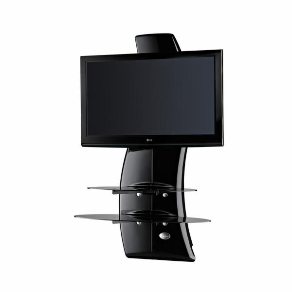 488064 BLACK Nástěný držák TV+kompon.