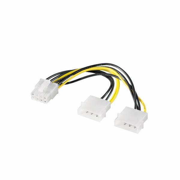 "Premium-Cord Redukce napájecí 2x5.25"" Molex - 8 pin pro PCI-E grafické karty"