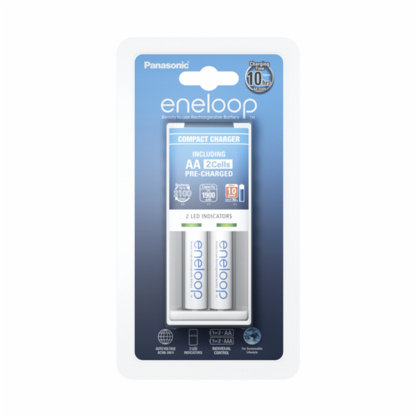 Panasonic Eneloop Compact BQCC50 Charger incl.1x2 AA Mignon Accus