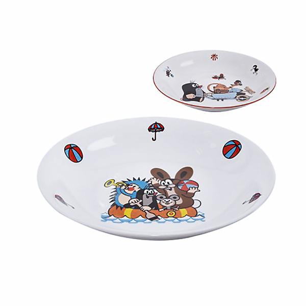 talíř hluboký d20 KRTEK porcelán
