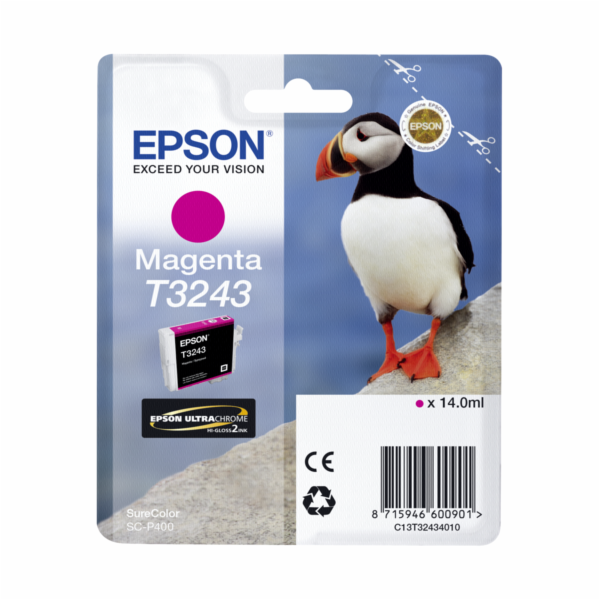 Epson ink cartridge magenta T 324 T 3243