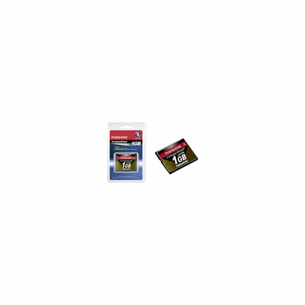 Transcend 1GB INDUSTRIAL TEMP CF200I CF CARD, paměťová karta (SLC)