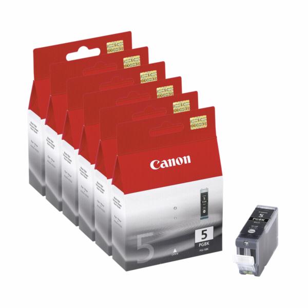 6 Canon PGI-5 BK cerna (VPE)