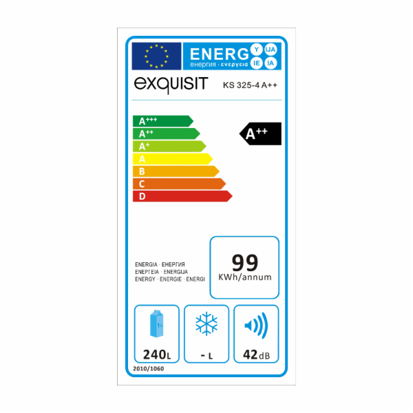 Chladnička Exquisit KS 325-4 A++ bílá