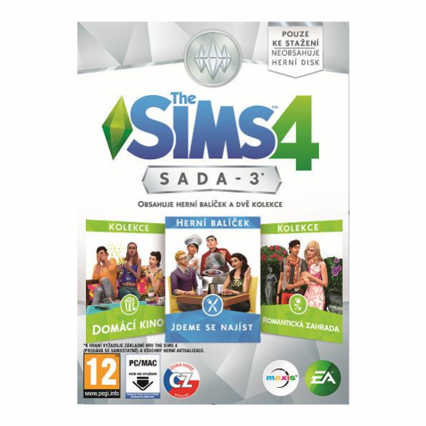 THE SIMS 4 BUNDLE PACK 3 (BP3) PC CZ/SK
