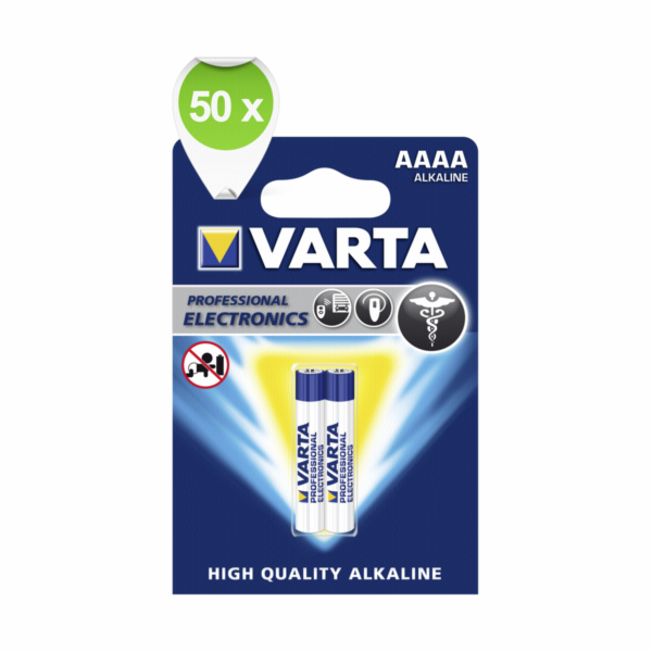 50x2 Varta Professional AAAA VPE Outer Box