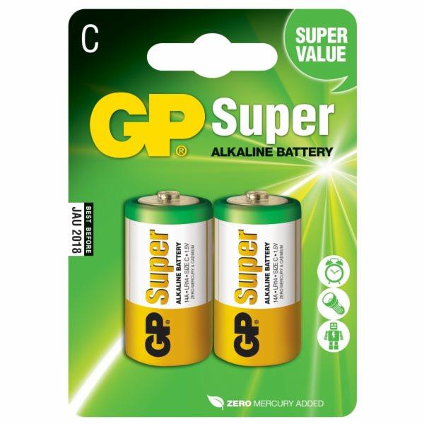 1x2 GP Super alkalicky 1,5V C Baby LR14 03014AC2