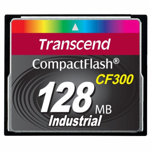 Transcend 128MB INDUSTRIAL CF300 CF CARD, high speed 300X paměťová karta (SLC)