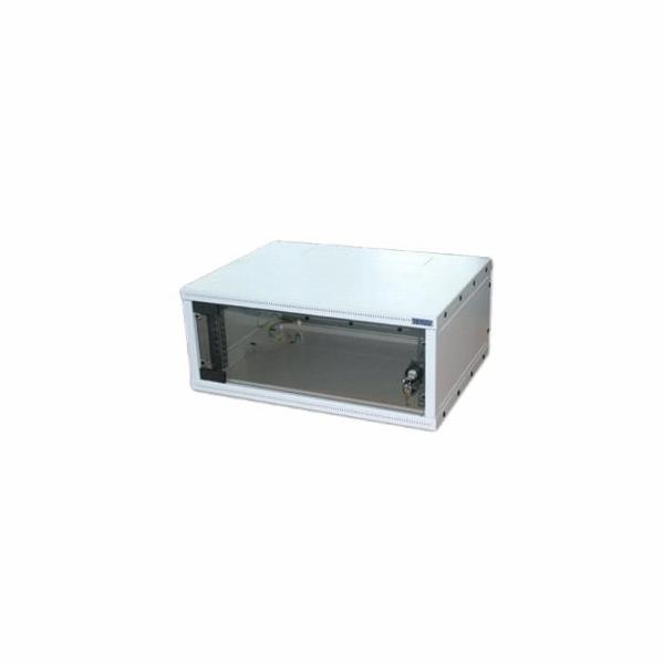 """19""""rozvaděč jednodílný 9U/400mm FLAT-PACK skl.dv."""