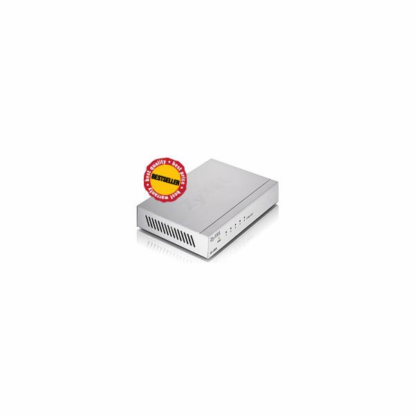 Zyxel GS-105B, 5-port 10/100/1000Mbps Gigabit Ethernet switch, desktop