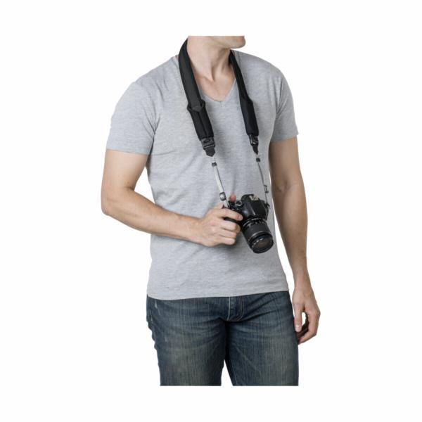 Pacsafe Carrysafe 75 GII popruh na krk pro foták cerný