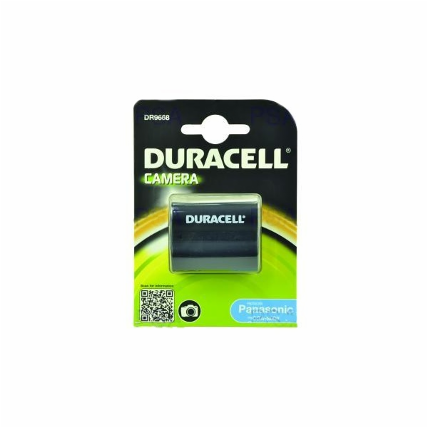 DURACELL Baterie - DR9668 pro Panasonic CGR-S006E/1B, černá, 700 mAh, 7.4V