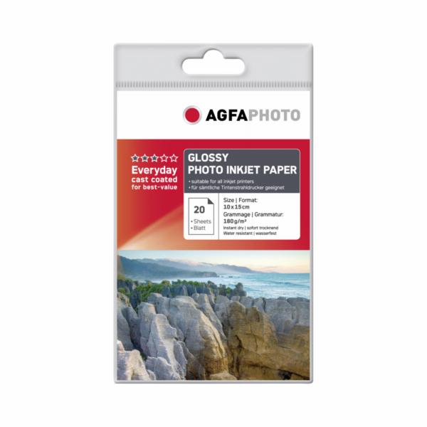 AgfaPhoto Everyday Photo Inkjet papir leskly 180 g 10x15 20 lis.