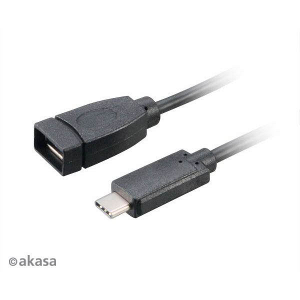 AKASA - USB 3.1 typ C na typ A adaptér - 15 cm