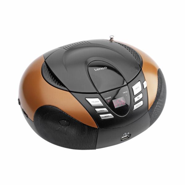 Rádio Lenco SCD-37 USB oranžové