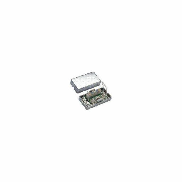 DATACOM Spojovací BOX STP Cat5e (2* zářez. pole) Silver